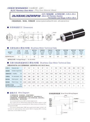 DYD-Brushless Gear Motor-28JXB30K/28ZWNP38