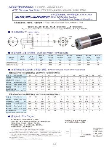 DYD-Brushless Gear Motor-36JXB30K/36ZWNP40