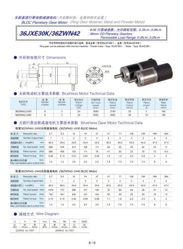 DYD-Brushless Gear Motor-36JXE30K/36ZWN42