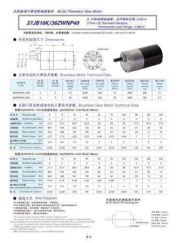 DYD-Brushless Gear Motor-37JB10K/36ZWNP40