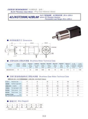 DYD-Brushless Gear Motor-42JXGT200K/42BL60