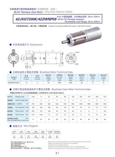 DYD-Brushless Gear Motor-42JXGT200K/42ZWNP59