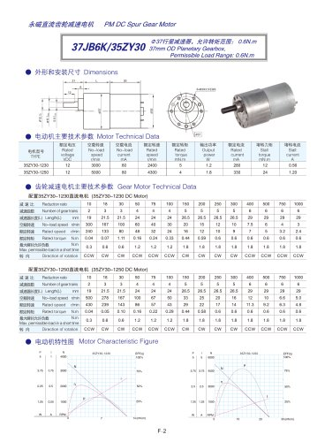 DYD-DC Mini Spur Gear Motor-37JB6K/35ZY30