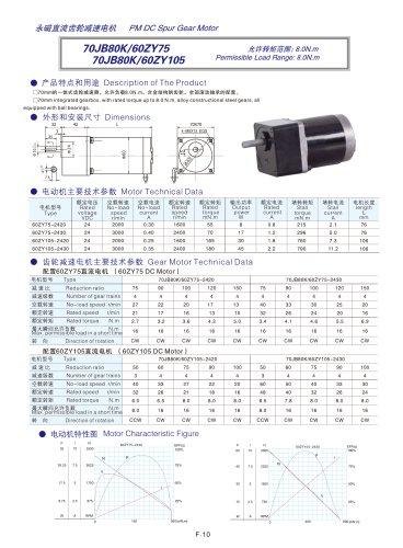 DYD-DC Parallel Shaft Gear Motor-70JB80K/60ZY75