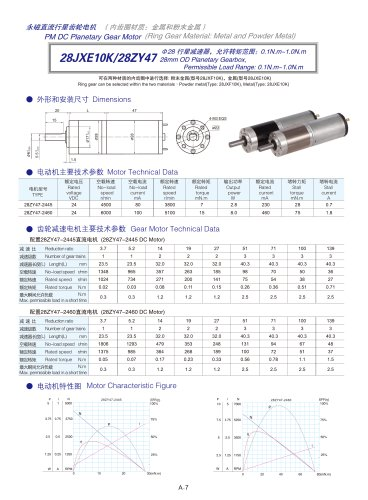 DYD-DC Planetary Gear Motor 16mm~45mm-28JXE10K/28ZY47