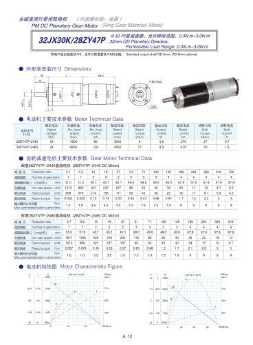 DYD-DC Planetary Gear Motor 16mm~45mm-32JX30K/28ZY47P