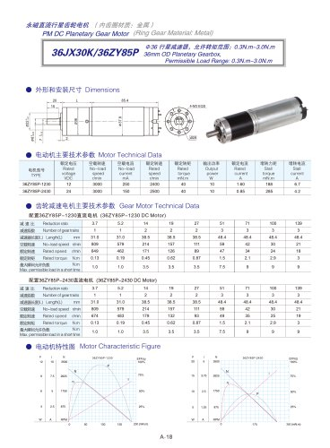 DYD-DC Planetary Gear Motor 16mm~45mm-36JX30K/36ZY85P