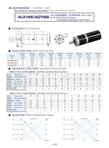 DYD-DC Planetary Gear Motor 16mm~45mm-45JX100K/45ZYN68