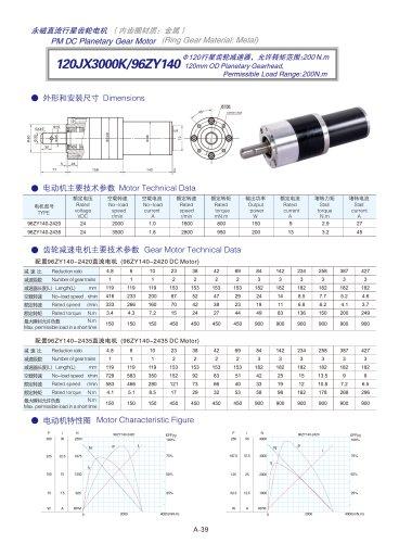 DYD-DC Planetary Gear Motor 52mm~120mm-120JX3000K/96ZY140