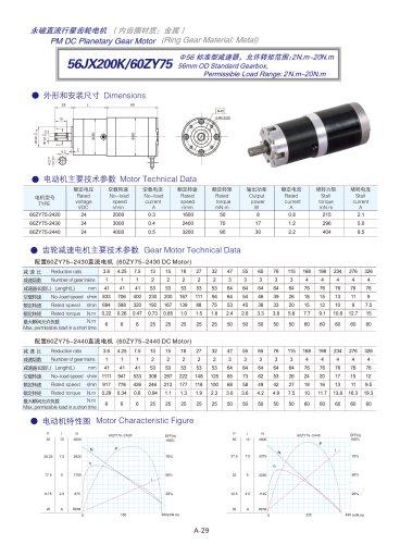 DYD-DC Planetary Gear Motor 52mm~120mm-56JX200K/60ZY75
