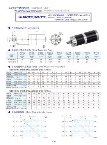 DYD-DC Planetary Gear Motor 52mm~120mm-56JX200K/60ZY95