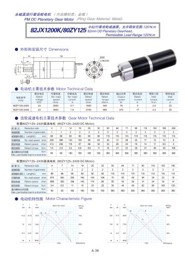 DYD-DC Planetary Gear Motor 52mm~120mm-82JX1200K/80ZY125