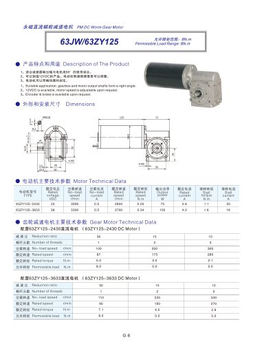 DYD-DC Right Angle Gear Motor-63JW/63ZY125
