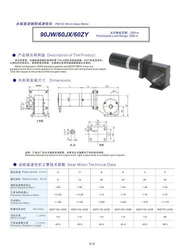 DYD-DC Right Angle Gear Motor-90JW/60JX/60ZY