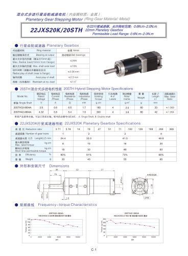 DYD-Planetary Geared Stepping Motor-22JXS20K/20STH
