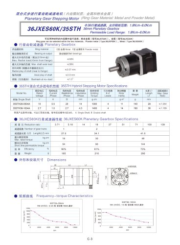 DYD-Planetary Geared Stepping Motor-36JXES60K/35STH