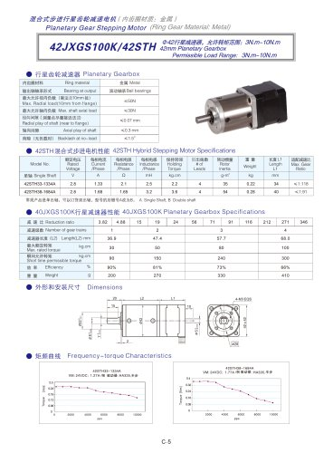 DYD-Planetary Geared Stepping Motor-42JXGS100K/42STH