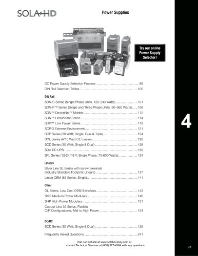 Power Supply Catalog Section