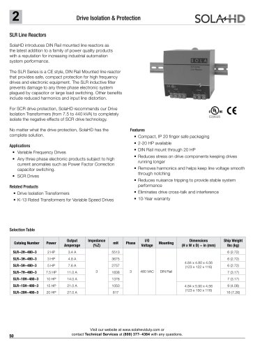 SLR Series Power Conditioner- Line Reactors