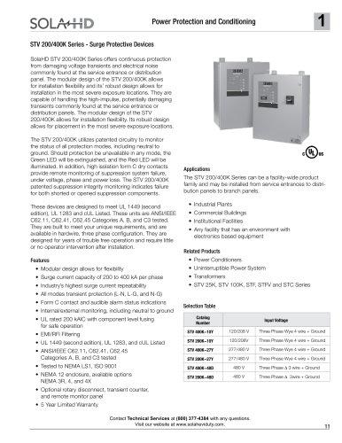 STV 200/400K Series - Surge Protective Devices