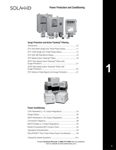 Surge Protection, Filtering, Date/Line Surge Protection