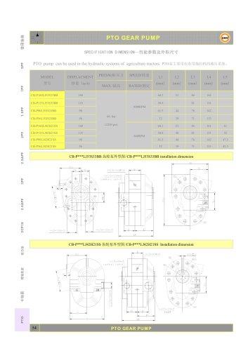 CB-P160LJ53S33BB hydraulic gear pump