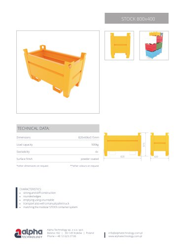 Containers Stock 800x400