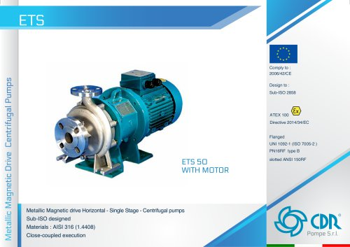 ETS - Magnetic Drive Metallic Pump