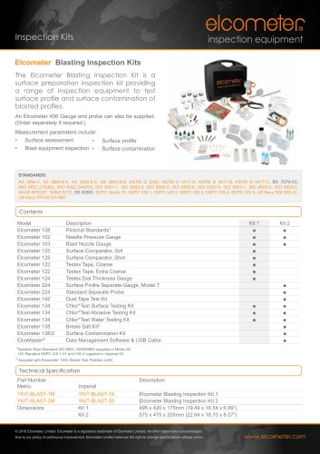Blasting Inspection Kits