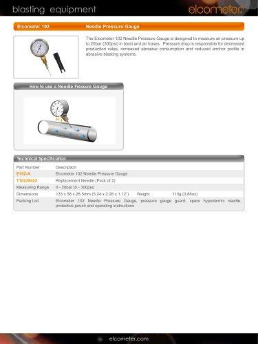 Elcometer 102 Needle Pressure Gauge