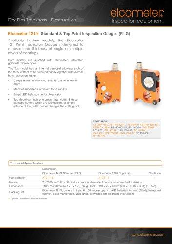 Elcometer 121/4 Standard & Top Paint Inspection Gauges (P.I.G.)