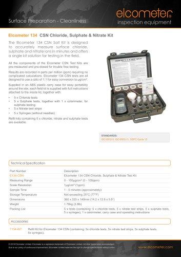 Elcometer 134 CSN Chloride, Sulphate & Nitrate Kit