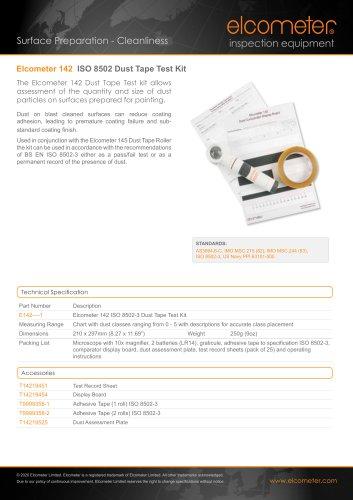 Elcometer 142 - ISO 8502-3 Dust Tape Test Kit