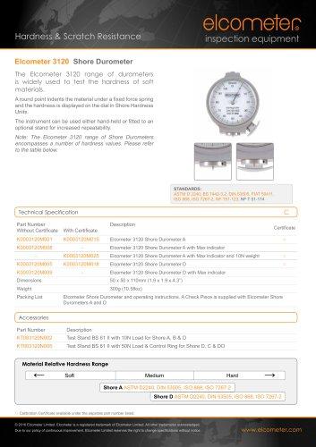 Elcometer 3120 - Shore Durometer