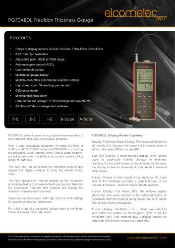 PG70ABDL Precision Thickness Gauge