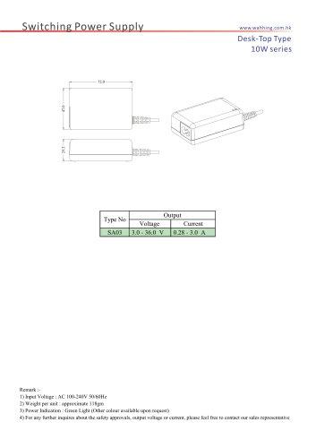 SMPS-10W Series Desktop Type