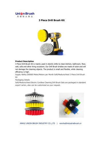 3 Piece Drill Brush Kit