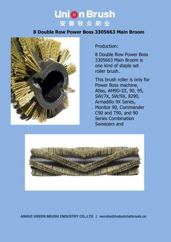 8 Double Row Power Boss 3305663 Main Broom