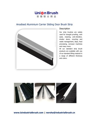 Anodised Aluminium Carrier Silding Door Brush Strip