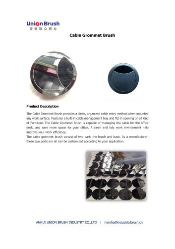 Cable Grommet Brush