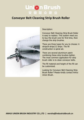 Conveyor Belt Cleaning Strip Brush Roller