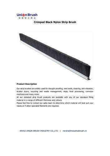 Crimped Black Nylon Strip Brush
