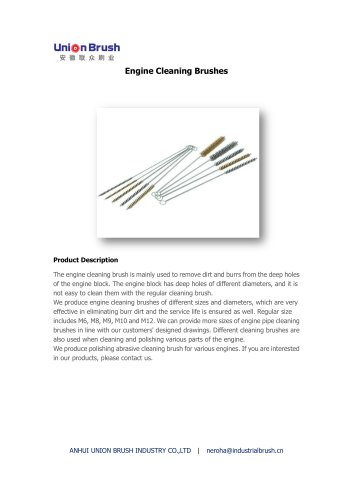 Engine Cleaning Brushes