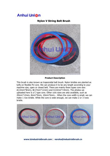 Nylon V String Belt Brush