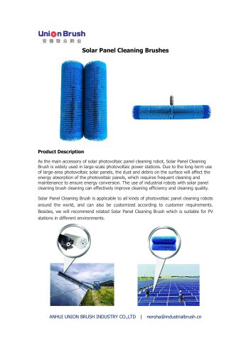 Solar Panel Cleaning Brushes