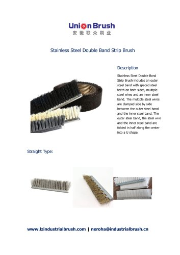 Stainless Steel Double Band Strip Brush