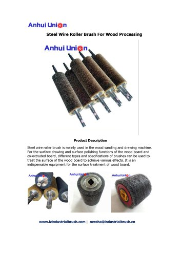 Steel Wire Roller Brush For Wood Processing