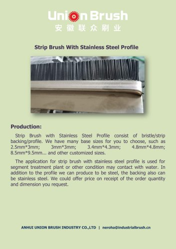 Strip Brush With Stainless Steel Profile