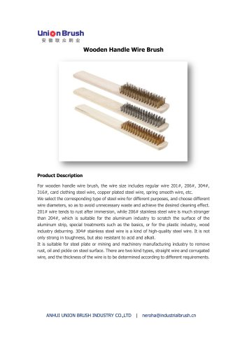 Wooden Handle Wire Brush