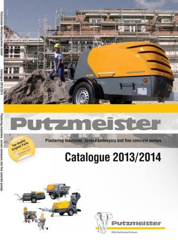 Plastering machines, screed pumps and fine concrete pumps. Catalogue 2011/2012